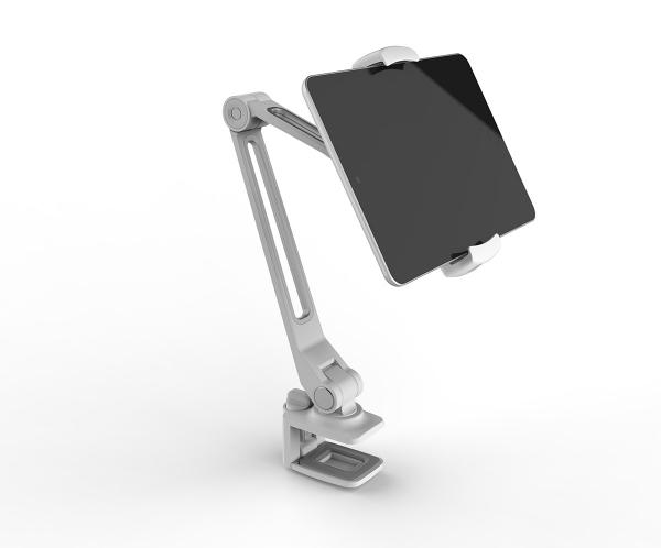 Tablet Universalhalterung und für Handys mit Tischklemme in weiß