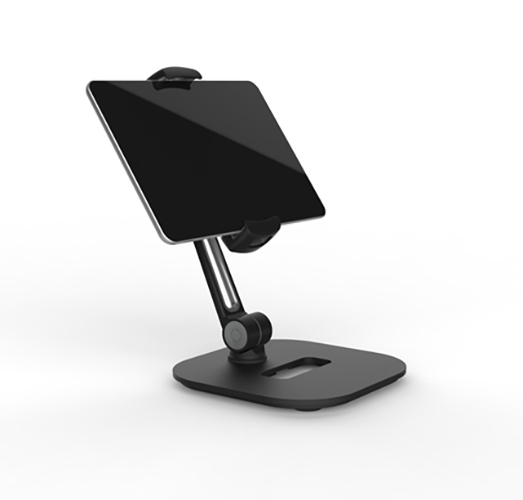 Universal mounting holder for smartphones and tablets with pedestal
